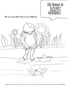 My Name is Jake Coloring Page